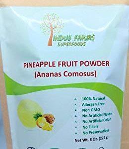 100% Natural Pineapple Powder, 8 oz, Eco-friendly Resealable pouch, No Artificial Flavors/Preservatives/Fillers, Halal, Kosher, Vegan-Friendly, Non-GMO