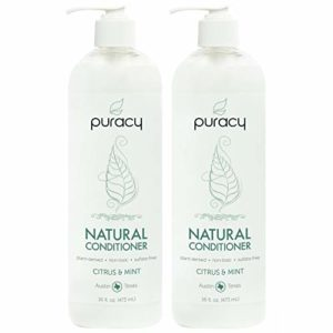 Puracy Natural Conditioner, Hypoallergenic, Silicone-Free, All Hair Types, 16 Ounce (2-Pack)