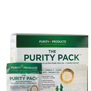 Purity Pack (Multi + Fish Oil + COQ10) | Purity Products | 1000mg of EPA & DHA from Ultra Pure Fish Oil + 2,000 IU of Vitamin D | 30 to-Go Packets