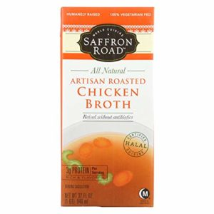 Saffron Road Artisan Roasted Chicken Broth, 32 Fluid Ounce - 12 per case.