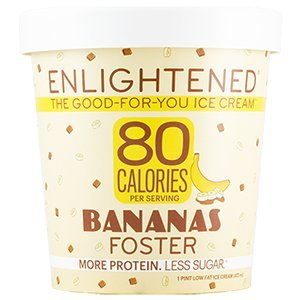 Enlightened - The Good For You Ice Cream, High Protein-Low Sugar-High Fiber-Low Fat, Bananas Foster, Pint (8 Count)