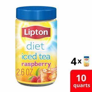 Lipton Diet Iced Tea Mix, Raspberry, 10 qt Pack of 4