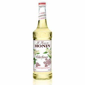 Monin - Elderflower Syrup, Delicate Scent with Floral Sweetness, Great for Cocktails, Lemonades, and Sodas, Gluten-Free, Vegan, Non-GMO (750 ml)