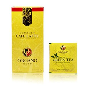 7 boxes Organo Gold Cafe Latte + FREE 20 sachets Organo Gold Green Tea