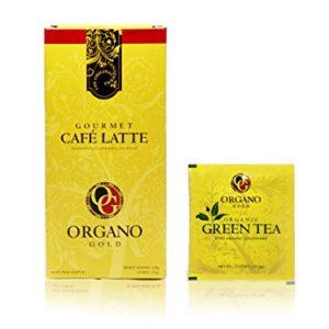 10 Boxes Organo Gold Cafe Latte - Free 10 Sachets Organo Gold Green Tea