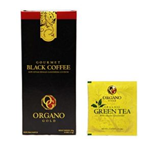 15 boxes Organo Gold Black Coffee + FREE 30 sachets OG Green Tea