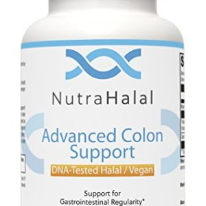NutraHalal Advanced Colon Support - Halal DNA Tested Vegetarian Formula - Gluten Free - Supports Natural Detoxification