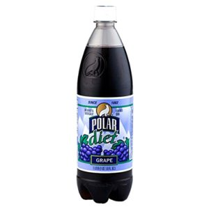 Polar Diet Grape Soda 1 L Plastic Bottles - Pack of 12