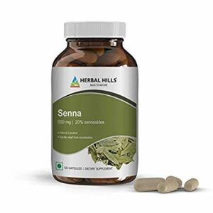 Senna Laxative (500 mg)/ Indian Senna/Alexandrian Senna with Sennosides, Natural Laxative and Stool Softener, relieves Occasional Constipation, maintains Regular Bowel Movements