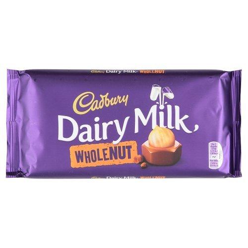 Cadbury Dairy Milk Whole Nut Bar (200g)