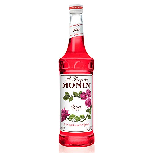 Monin - Rose Syrup, Elegant and Subtle, Great for Cocktails, Mocktails, and Soda, Gluten-Free, Vegan, Non-GMO (750 ml)