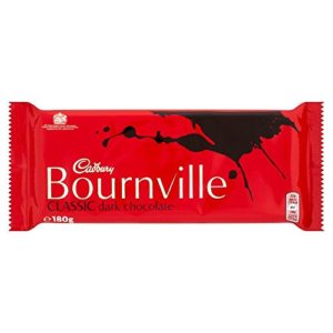 Cadburys Bournville Dark Chocolate - 180g - Pack of 6 (180g x 6 Bars)