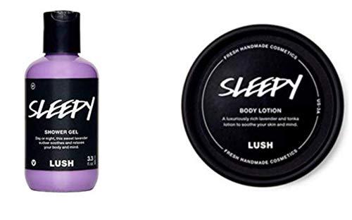 LUSH SLEEPY SHOWER GEL 100ml AND SLEEPY LOTION COMBO 3.1