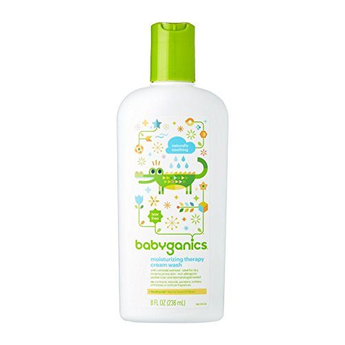 Babyganics Moistsurizing Therapy Cream Wash, 8oz Bottle (Pack of 2)