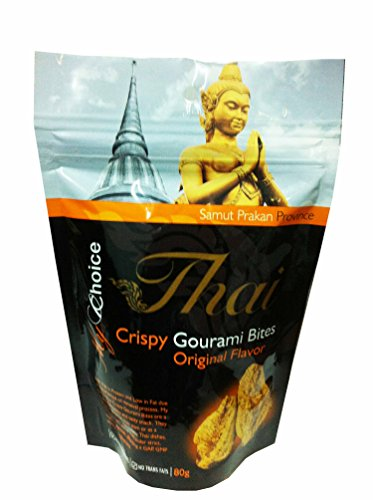 3 Packs of Crispy Gourami Bites Original Flavor, Deliicious Snack From My Choice Thai Brand, Gap, GMP and Halal Certifications. 4 or 5 Strar Otop Rating Approved. (80 G/ Pack)