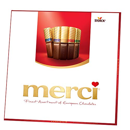 MERCI Finest Assortment of European Chocolate Candy, 7 Ounce Box, Contains Eight European Chocolate Varieties, Chocolate Candy, Assorted Candy and Sweets, Great Holiday Gift or Birthday Gift