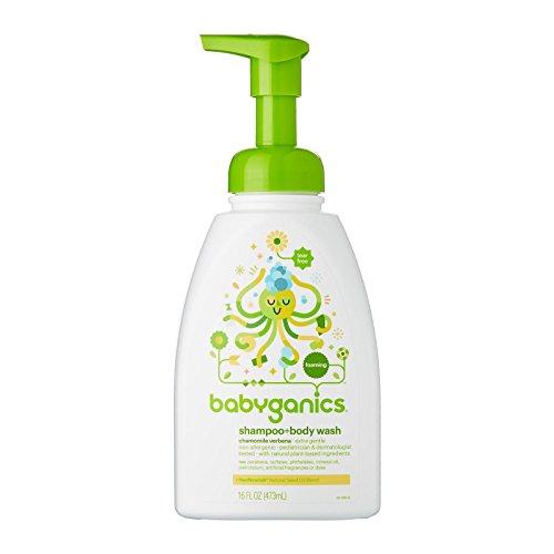 Babyganics Baby Shampoo and Body Wash, Chamomile Verbena, 16 Ounce