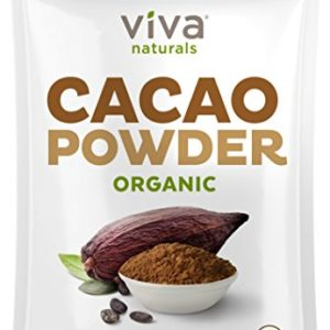 Viva Naturals Certified Organic Cacao Powder (2lb) for Smoothie, Coffee and Drink Mixes