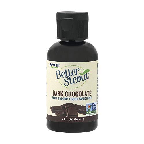 NOW Foods, Better Stevia Liquid, Dark Chocolate, Zero-Calorie Liquid Sweetener, Low Glycemic Impact, Certified Non-GMO, 2-Ounce
