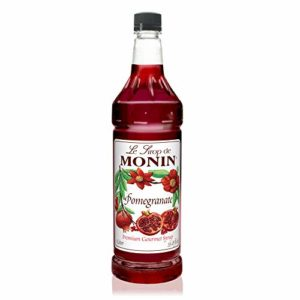 Monin - Pomegranate Syrup, Tart and Sweet, Great for Cocktails and Teas, Gluten-Free, Vegan, Non-GMO (1 Liter)