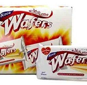 Halal Bisco Misr Big Wafers Filled With Vanilla Cream 12 Piece 384