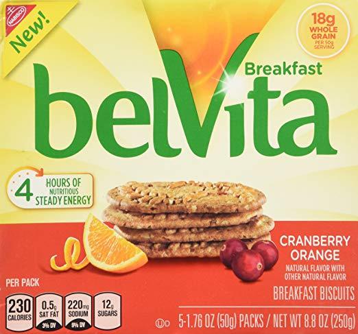 belVita Breakfast Biscuits, Cranberry Orange, 8.8 Ounce