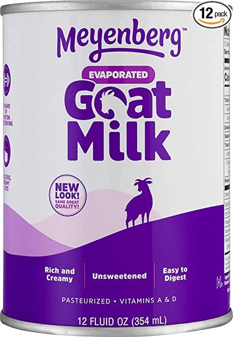 Meyenberg Evaporated Goat Milk, Vitamin D, 12 Ounce (Pack of 12)
