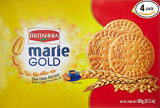 Britannia Marie Gold Tea Time Biscuits Value Pack of 600g.