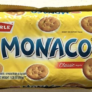 Parle Monaco Classic Regular Biscuits VALUE PACK - 43.5g (Pack of 6)