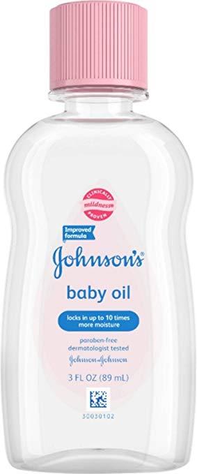 JOHNSON'S Baby Oil 3 oz (Pack of 2)