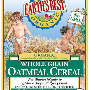 Earth's Best Organic Infant Cereal, Whole Grain Oatmeal, 8 oz. Box