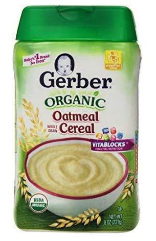 Gerber Organic Baby Cereal - Oatmeal - 8 oz