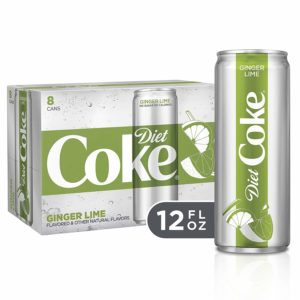 Diet Coke Sleek Can, Ginger Lime, 12 Fluid Ounce (Pack of 8)