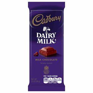 Cadbury Dairy Milk Velvety Smooth Milk Chocolate Bar 3.50 oz