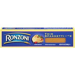 Ronzoni Thin Spaghetti, 16 oz (Pack of 20)