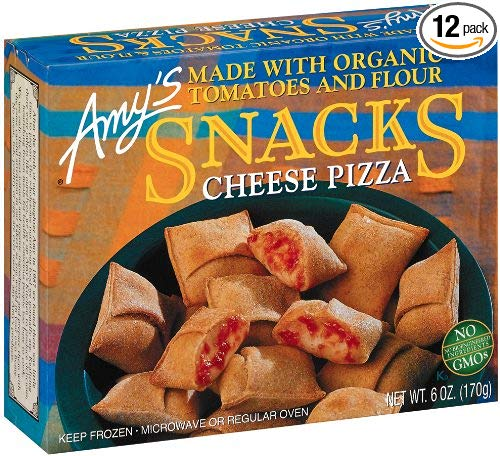 Amy's Cheese Pizza Snacks, Organic, 6-Ounce Boxes (Pack of 12)
