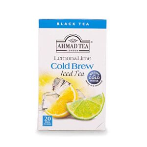 Ahmad Tea Cold Brew Iced Tea, Lemon and Lime, 20 Count (Pack of 6)