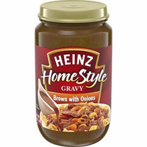 Heinz Home-style Brown Gravy with Onions, 12 oz Jar
