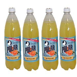 Orange Dry Soda by Polar Beverages 1 liter (33.8 fl oz) Bottles (4 Bottles) ...