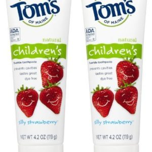 Tom's of Maine Anticavity Fluoride Children's Toothpaste - 4.2 oz - Silly Strawberry - 2 pk