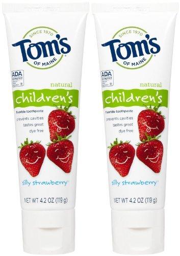 Tom's of Maine Anticavity Fluoride Children's Toothpaste - 4.2 oz - Silly Strawberry - 2 pk
