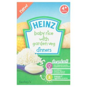 Heinz Baby Rice & Garden Veg Dinners 4mth+ (125g)