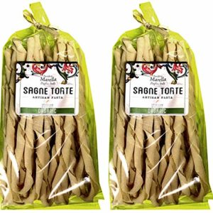 Pastificio Marella, Sagne Torte Organic Artisan Pasta, Imported from Italy, 17.60 oz (Pack of 2)