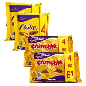 Cadbury Variety Selection | 8 Bars of Cadbury Flake & 8 Bars of Cadbury Crunchie | 16 Bars Total