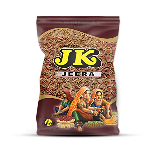 JK CUMIN SEED 8.82 Oz, 250g (Jeera Whole) Non-GMO, Gluten free and NO preservatives!