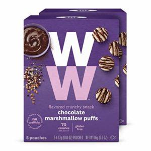 WW Chocolate Marshmallow Puffs - Gluten-free & Kosher, 2 SmartPoints - 2 Boxes (10 Count Total) - Weight Watchers Reimagined
