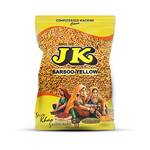 JK YELLOW MUSTARD SEED 17.64 Oz, 500g - Non-GMO, Gluten free and NO preservatives!