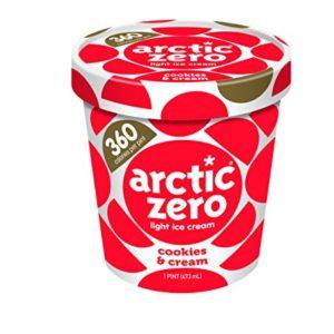Pack of 6, Arctic Zero Light Ice Cream, Cookies & Cream Pint