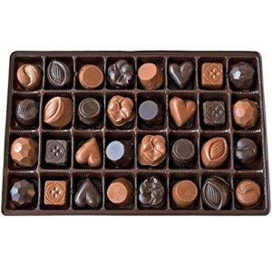 Lang's Chocolates Milk and Dark Chocolate Sampler Box 32 piece assorted milk and dark chocolates