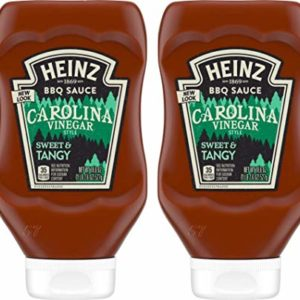 Heinz BBQ Sauce - Carolina - Vinegar Style Tangy - Net Wt. 18.6 OZ (527 g) Per Bottle - Pack of 2 Bottles